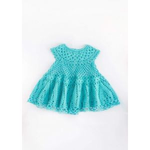 "Handmade crocheted dress ""Cloudlet"""