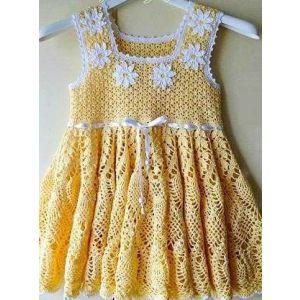 "Handmade crocheted dress ""Daisy"""