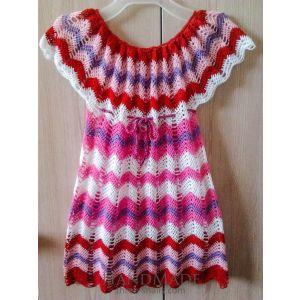 "Handmade crocheted dress ""Zigzag"""