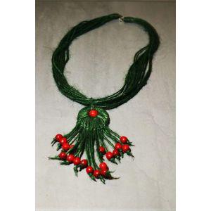 "Handmade Fashion Necklace ""Green Bush"""