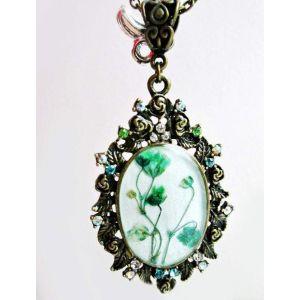 Handmade floral pendant «Sensivity»