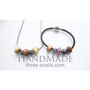 "Handmade jewelry set ""Wooden beauty"""
