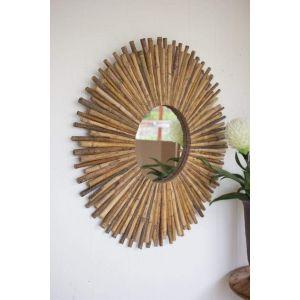 Handmade round mirror