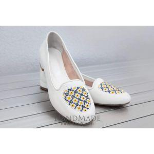 Handmade shoes «White Pearl»