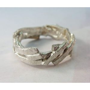 "Handmade silver ring ""Silver cliffs"""