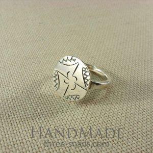 Handmade silver rings. Slavic symbol ring