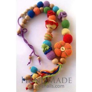 "Handmade sling beads ""Bright day"""