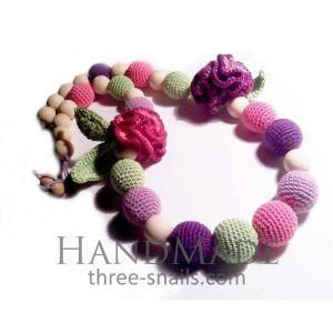 "Handmade sling beads ""Carnations"""