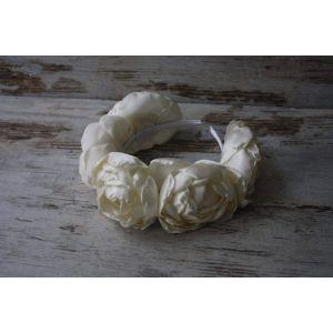 """Headbands for women """"White roses"""""""