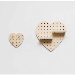 Heart-shaped shelf