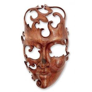Indonesia wood mask
