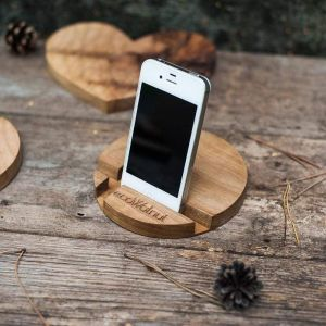 """Iphone and tablet wood stand """"Circle"""""""