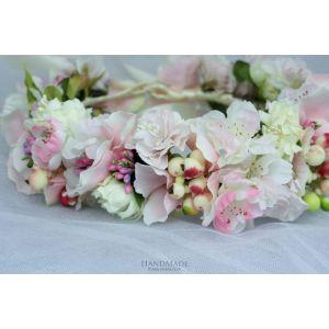 "Ivory bridal floral crown ""Ivory elegance"""