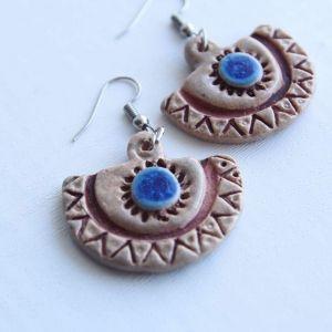 "Jewelry earrings ""Ethnic half-circle"""