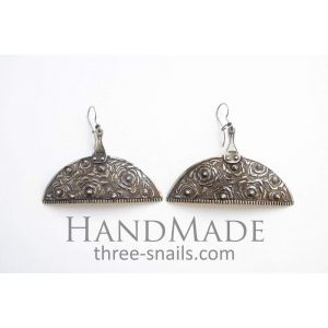 "Jewelry earrings ""Half moon"""