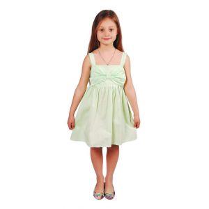 """Kids dress """"Pale-green bow"""""""