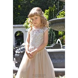 "Kids party dress ""Creamy mousse"""