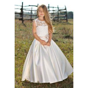 "Kids party dresses ""White flower"""