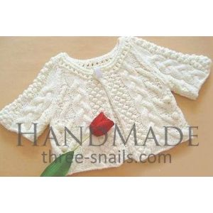 "Knitted baby jumper ""Snow pattern"""
