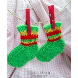 "Knitted baby socks ""Spring"""