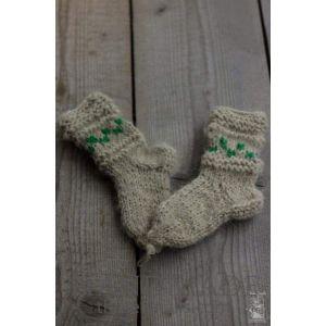 """Knitted children socks """"Christmas Tree"""""""