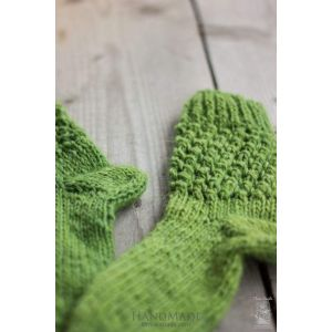 "Knitted handmade socks ""Green"""