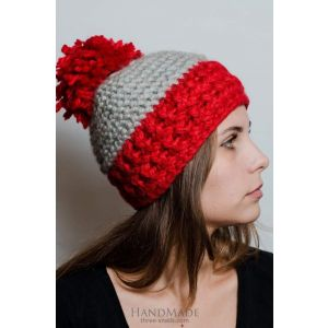 """Knitted hat""""Red hat"""""""