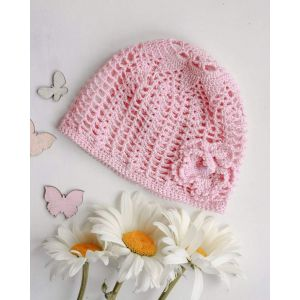 """Knitted hats for babies """"Pink dream"""""""