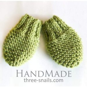 "Knitted mittens for baby ""Forest"""