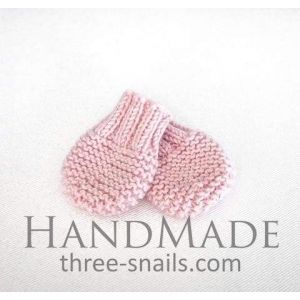 "Knitted mittens for baby ""Winter joy"""