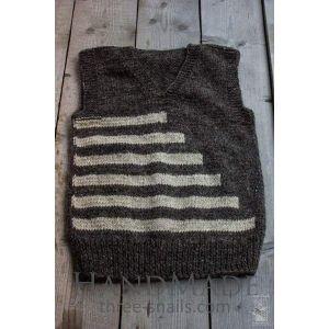 """Knitted woolen vest """"Geometria"""""""