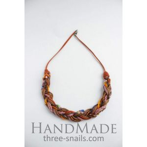 Lace necklace «Autumn Melody»