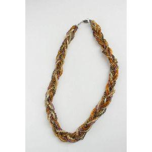 Lace necklace «Golden Symphony»