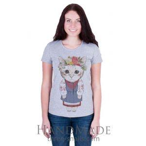 Ladies clothing catalogs online. Woman T-shirt «Kitten»