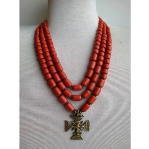 Red necklace with cross