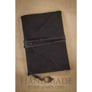 "Leather bound journal with coffe sheets ""Carol"""