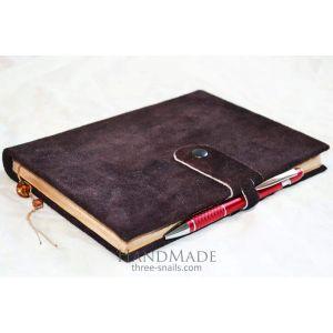 "Leather bound notebook ""Caramel"""