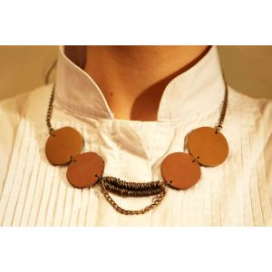 «Leather geometry» Necklace