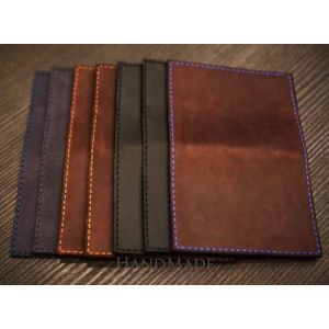"Leather passport cover ""Citizen of the world"""