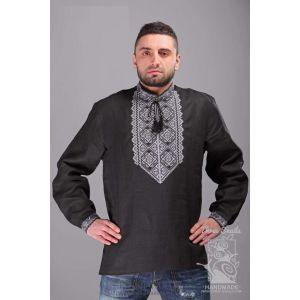 """Linen mens shirt """"Grey Wolf"""""""