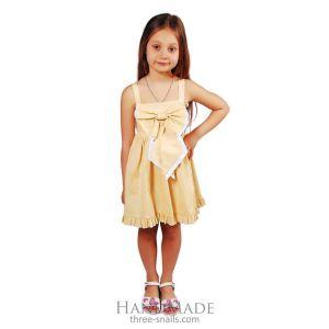 """Little girls party dress """"Yellow dream"""""""