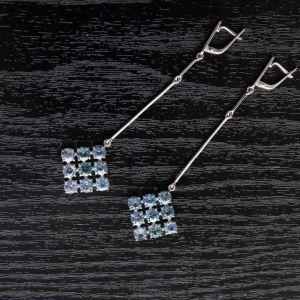 Long gold dangle earrings