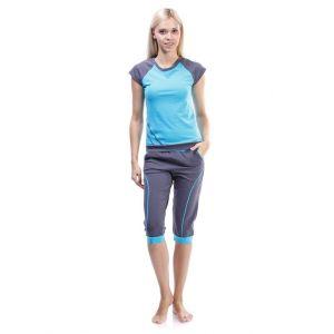Loungewear women set. Pajamas set (T-shirt and breeches)