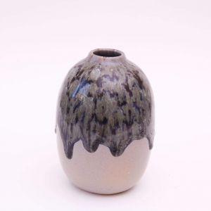 Medium dark green vase