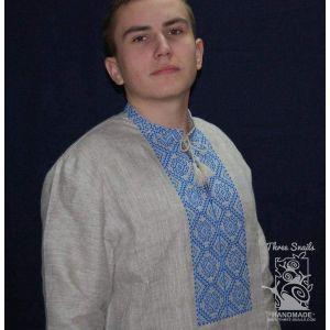 "Men linen shirt with embroidery ""Sandman"""