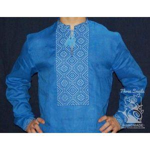 """Mens blue linen shirt """"Air"""""""