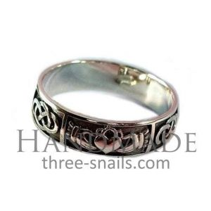 "Mens claddagh ring ""Endless Love"""