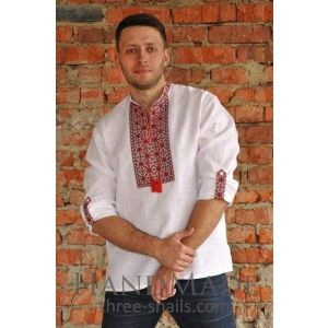 """Mens embroidered shirt """"The two elemts"""""""