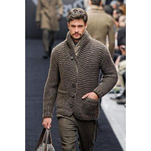Men's knitted cardigan sweater