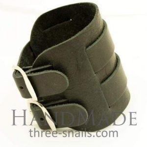 "Mens leather cuff bracelets ""Punk"""